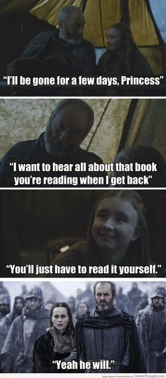 Stannis made sure that Davos has to read the book himself