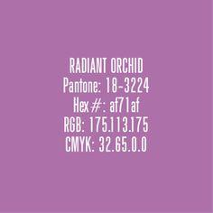 Radiant Orchid  - Pantone Colours