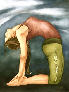 Camel Pose Yoga Art Print on sale @ Claudia Tremblay Namaste Yoga, Yoga Meditation, Namaste Art, Yoga Kunst, Claudia Tremblay, Yoga Illustration, Restorative Yoga, Yoga Art, Ashtanga Yoga