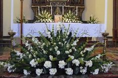 Alter Flowers, Church Flowers, Funeral Flowers, Wedding Flowers, Easter Flower Arrangements, Funeral Flower Arrangements, Beautiful Flower Arrangements, Church Altar Decorations, Flower Decorations