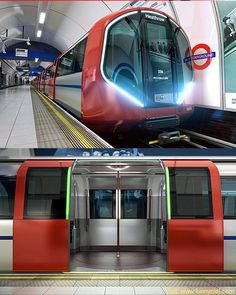 New Deep Line London Underground Trains for Piccadilly, Northern and Bakerloo. London Underground Train, London Underground Stations, Underground Tube, London Transport, Public Transport, London Overground, Tube Train, Metro Subway, Future Transportation