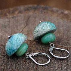 RAKU earrings  OOAK