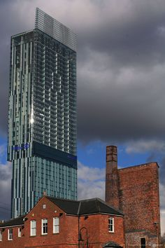 Manchester Hilton towering above...