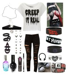 """""""Style #320"""" by katlanacross ❤ liked on Polyvore featuring Tripp, Paul's Boutique and NYX"""