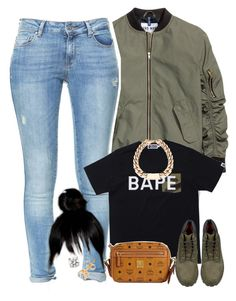 """Untitled #1617"" by lulu-foreva ❤ liked on Polyvore featuring Zara, A BATHING APE, MCM and Timberland"