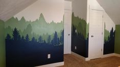How to Paint a Forest Mural