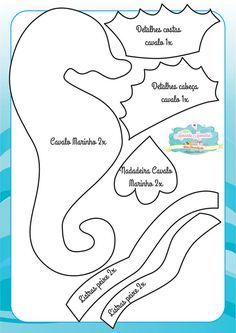 Felt Under the Sea Friends ❤ Quiet Book Templates, Felt Templates, Felt Patterns, Sewing Patterns, Felt Fish, Techniques Couture, Felt Quiet Books, Felt Decorations, Animal Crafts