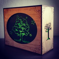 Waldorf Silhouete light box handmade Moss Creek Woodworking