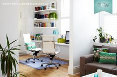 We visit Lana Hirschowitz for a home office makeover L Office, Home Office, Office Ideas, Color Splash, Color Pop, Colour, Shopping Vouchers, Office Makeover, House Tours