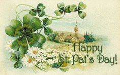 Shop Vintage Shamrock Church Village St Patrick's Day C Postcard created by kinhinputainwelte. Personalize it with photos & text or purchase as is!