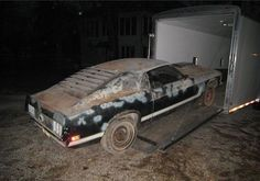 Rough, Unrestored 1970 Boss 302 Mustang Up For Grabs 1970 Mustang Mach 1, Ford Mustang Shelby Cobra, Mustang Boss, Abandoned Cars, Abandoned Vehicles, Car Barn, Barn Finds, Ford Gt, Old Cars