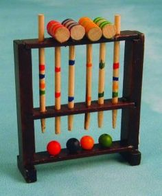 The preferred weapon at St. Trinian's is the field hockey stick, but I see no reason why croquet mallets wouldn't be used in a pinch.