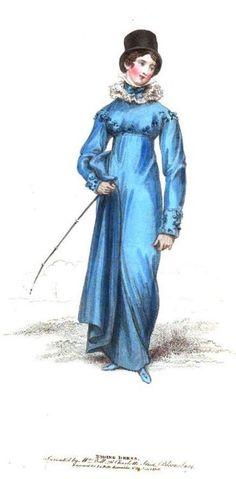 La Belle Assemblee, Riding Dress, June 1816.  What a color!