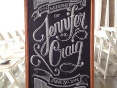 Dribbble - Wedding Chalkboard by Brandon Ehrlich