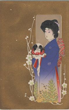 Woman with Dog, artis unknown, Leonard A. Lauder Collection of Japanese Postcards | Museum of Fine Arts, Boston