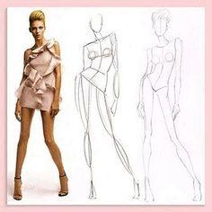 face - base - corpo - croqui. basic - sketch of fashion - face- drawing