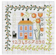 Punto croce - Schemi Gratis e Tutorial: Schemi punto croce facile-imparaticci casa dolce casa