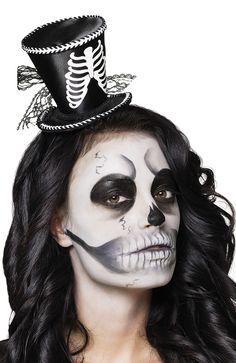 Ladies Skeleton Mini Top Hat on Headband Voodoo Halloween Fancy Dress for sale online Voodoo Halloween, Halloween Fancy Dress, Bowler Hat, Skull Makeup, Unisex, Dresses For Sale, Halloween Face Makeup, Celebrities, Lady