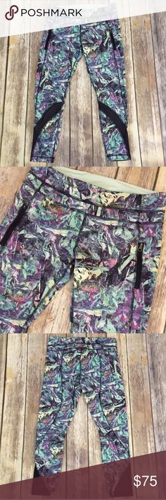 "Lululemon High Times Mesh Inspire II Tights Pants Excellent condition with no flaws, these Lululemon Inspire Tight II are in a multicolor navy blue floral print. They have the mesh insets on them in a similar style to the Lululemon High Times tights. They're a size 10, 7/8 length, approximate 25"" inseam. Worn only once. ⚓️No trades or holds. I accept reasonable offers unless the item is priced at $8 or less and then the price is FIRM. I only negotiate through the offer button. 🚭🐩HB…"