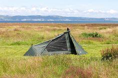 The DD SuperLight Tarp Tent: DD Hammocks lightweight backpacking tent. Just add hiking poles. Trekking Outfit, Trekking Gear, Backpacking Tent, Camping, Spreader Bar, Side Door, Outdoor Gear, Minimalism, Hiking