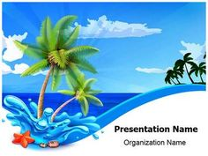 Sailboat transportation powerpoint template is one of the best beach palms powerpoint template is one of the best powerpoint templates by editabletemplates toneelgroepblik Image collections