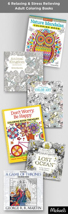 Coloring books for grown ups creative cats stress for Find michaels arts and crafts
