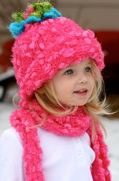 Seriously...How CUTE is this little girl in her pink hat and scarf!?!?