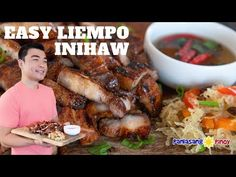 Easy Liempo Inihaw is a type of pork barbecue. It is grilled the Filipino way. Liempo or pork belly are marinated in basic inihaw marinade Barbecue Recipes, Pork Recipes, Healthy Recipes, Pork Barbecue, Healthy Food, Pinoy Food Filipino Dishes, Filipino Recipes, Marinated Pork, Grilled Pork