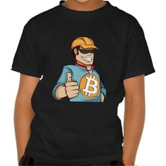 Bitcoin Mining League Guy T-shirt. Bitcoin, you can be your own bank. High resolution Bitcoin logo design just for you. Spread the word of Bitcoin, Vires in Numeris, Strength in Number people's choice crypto currency technology.