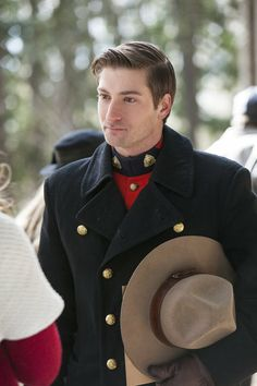 "When Calls the Heart 1011                              In ""Rules of Engagement,"" Jack gets an unexpected visitor from his past who puts his relationship with Elizabeth in jeopardy, while Abigail starts working with a charming new mountie on the mine investigation. Photo: Daniel Lissing Credit: Copyright 2013 Crown Media United States, LLC/Photographer: Eike Schroter"