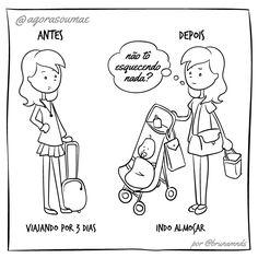 Depois que virar mãe, pode ter certeza de que suas coisas vão caber todas em uma necessaire!