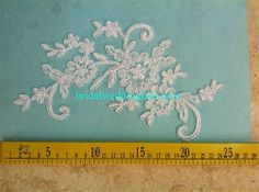 10 Pairs Quality Corded Bridal Lace Applique Wedding Lace Motif CLM086 for DIY Wedding Dress Bridal Veil Applique