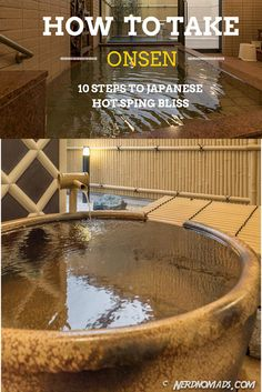 Onsen (Japanese hot spring) is a must-try if you visit Japan! Here is the ultimate step-by-step guide of how to Onsen by nerdnomads #Japan #Onsen #hotspring