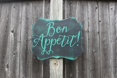 Bon Appetit Sign, Buen Provecho Sign, Enjoy Your Meal, Kitchen Decor, Dining…