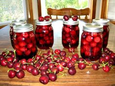 Amaretto Cherries Recipe on $100 A Month at http://www.onehundreddollarsamonth.com/canning-101-amaretto-cherries/
