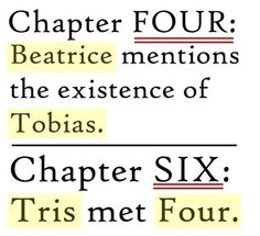 Tobias and Tris. Four and Six