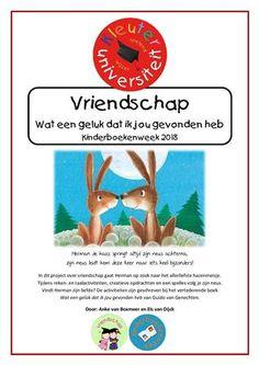 Kinderboekenweek 2018 vriendschap kleuters project juf Anke Book Week, Too Cool For School, Special Needs, Children, Books, Projects, Geluk, Authors, Young Children