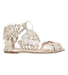 CHARLOTTE OLYMPIA - Linda metallic leather sandals | Selfridges.com