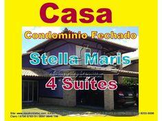 Casa de 4 dormitórios sendo 4 suítes Localizado no bairro Stella Maris de Salvador