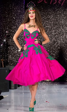 Betsey Johnson always LOVED the green and PINK