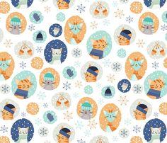 Spoonflower Fabric of the week voting: Kittens in mittens