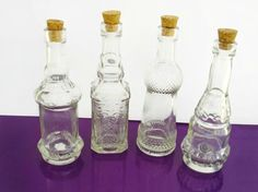 Glass Bottles Decorative X15 Clear Glass Bottles With Corks Tiny 05Ml Vials With Cork