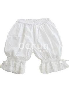 Top Selling Baumwolle Weiß Schnüren Lolita Pumphose im Jahr 2012