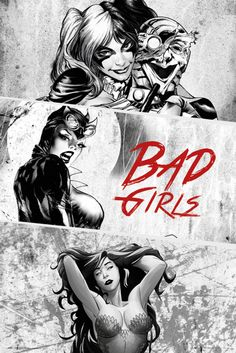 DC Comics Bad Girls - Official Poster. Official Merchandise. Size: 61cm x 91.5cm. FREE SHIPPING