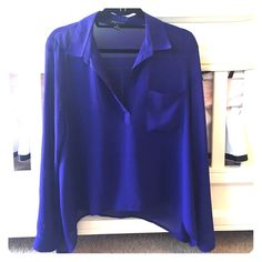 Sheer Blouse Only worn once!.. In great condition! Foreign Exchange Tops Blouses
