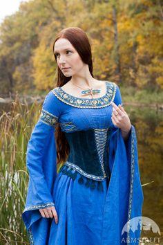 Middeleeuwse stijl Suede Corset Gordel Vrouwe van het