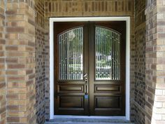 Double Front Doors With Glass Style Double Front Doors With in measurements 1000 X 1131 Double Front Entry Doors - With an old-fashioned brass finish you m Double Front Entry Doors, Double Doors Exterior, Entry Doors With Glass, Wooden Front Doors, Painted Front Doors, The Doors, Glass Front Door, Glass Doors, Entrance Doors