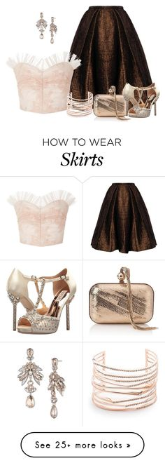 """Untitled #2653"" by anfernee-131 on Polyvore featuring Rodarte, Jimmy Choo, Badgley Mischka, Givenchy and Alexis Bittar"