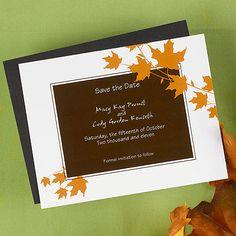 Autumn Leaves Save the Date Magnet  B. Joyful Invitations