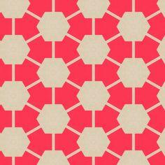 Retro Pink Hexagons fabric by stoflab on Spoonflower - custom fabric